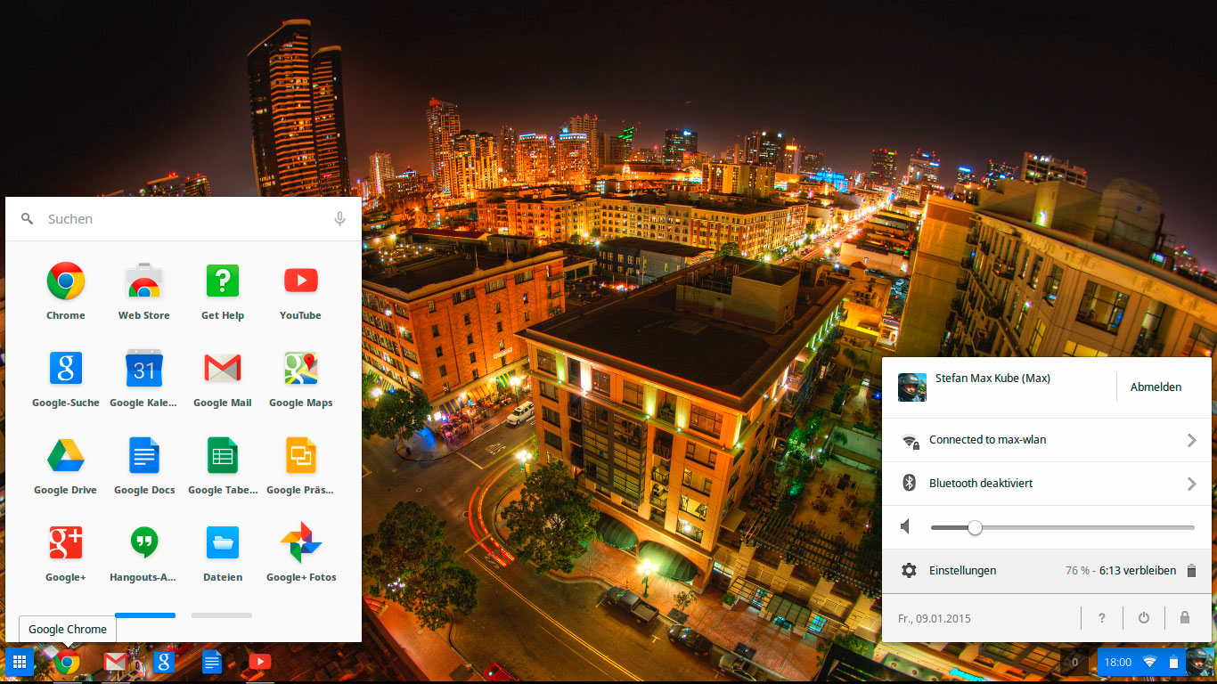 Desktop Chrome OS