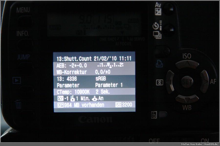 {chdk} Shutter Count
