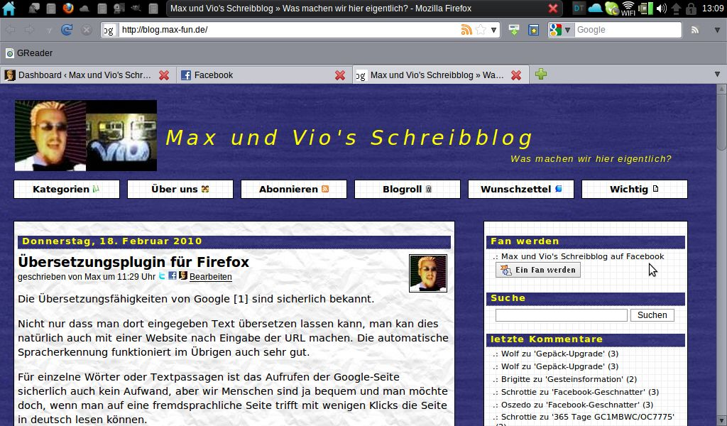 {jocl} Unser Blog im Firefox von Jolicloud