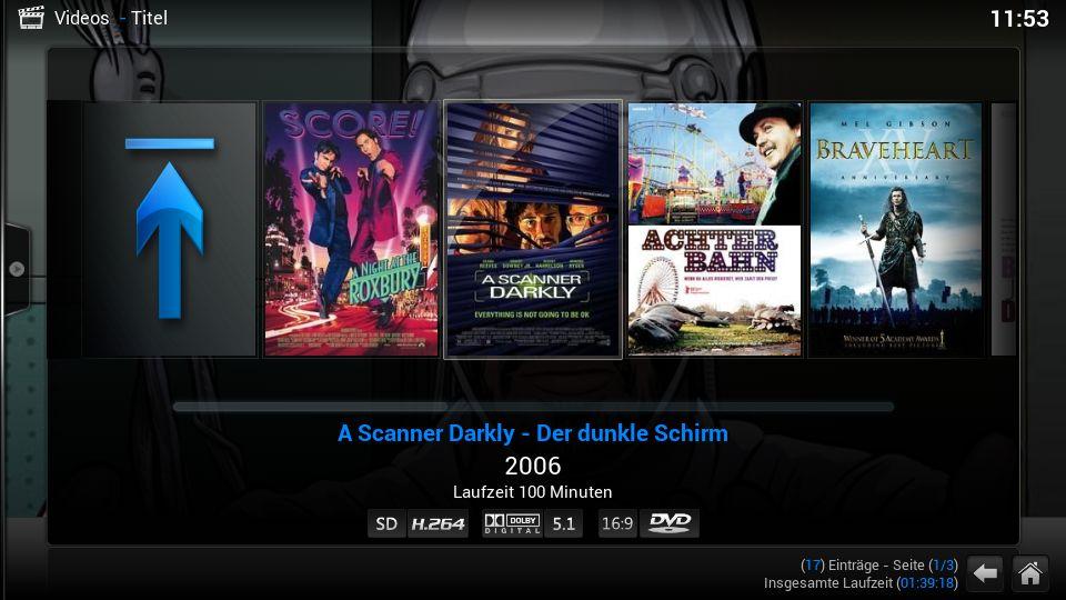 Filme, div. Ansichten (Datenbankmodus)