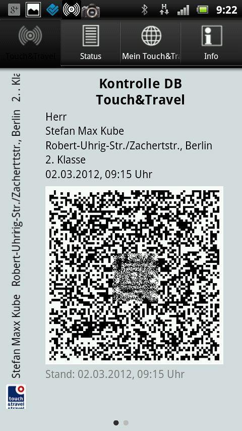 {tat} DB Fahrkarte