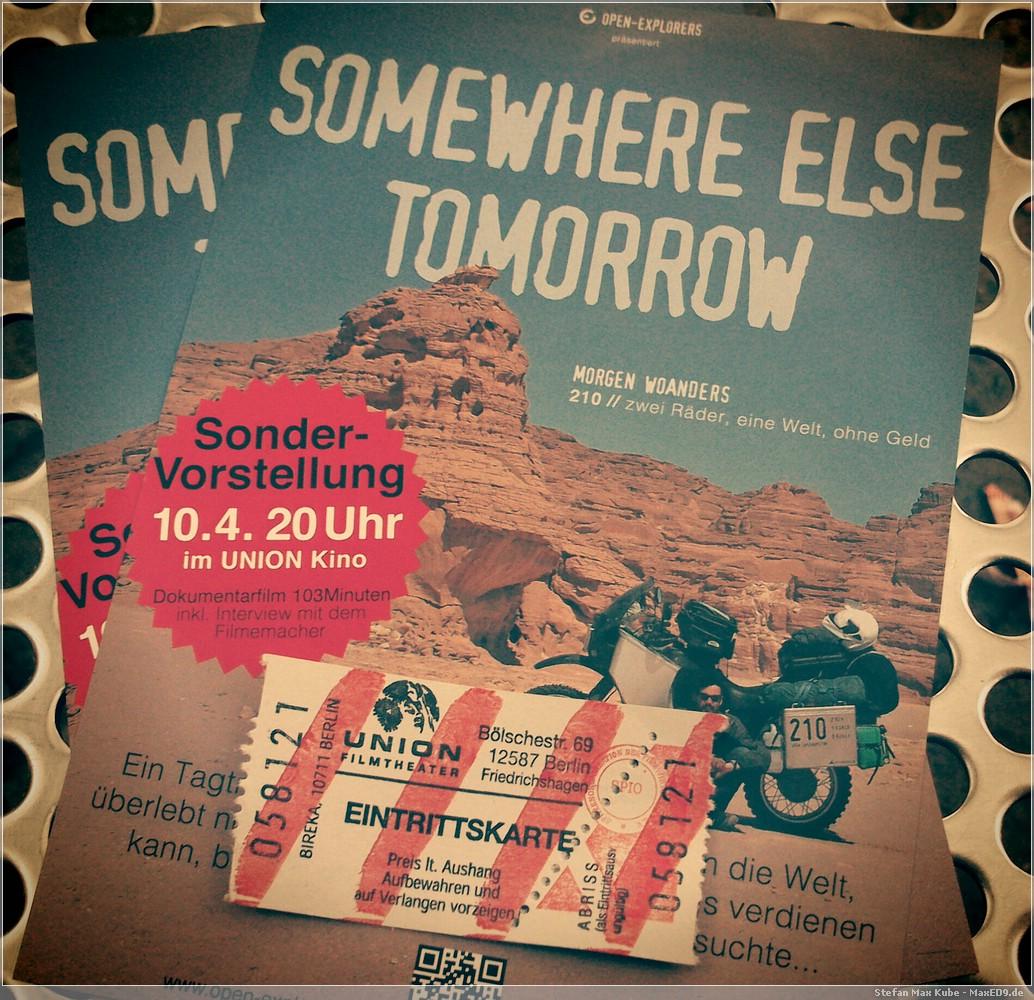 Flyer und Eintrittskarte
