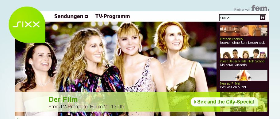 {unfreetv} SIXX FreeTV-Werbung