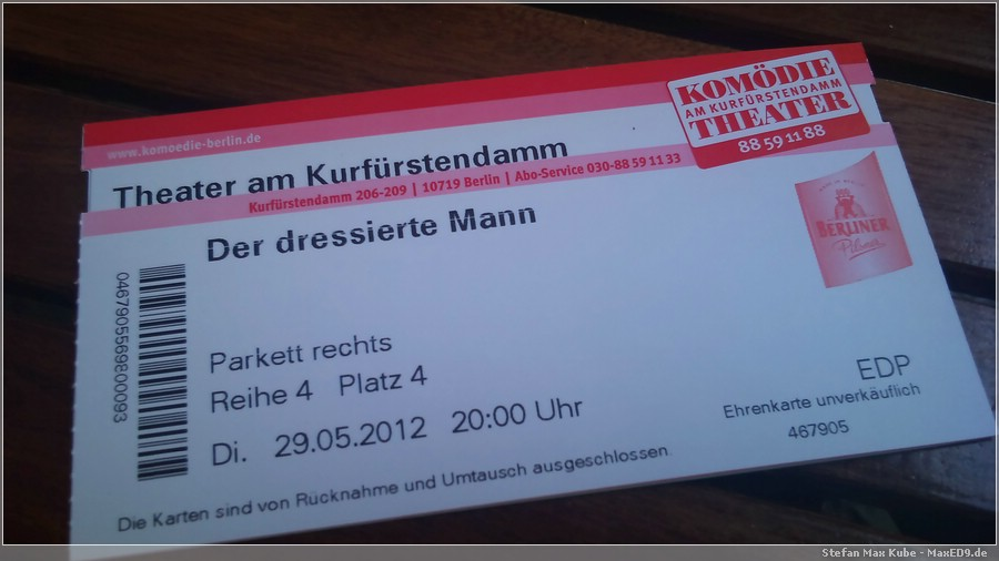 {ddm} Eintrittskarte