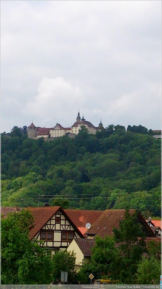 Blick zum Schloss Langenburg