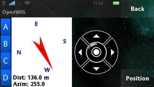 {wig} openWIG Navigationsanzeige