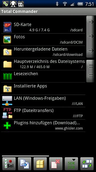 {tc} Total Commander für Android