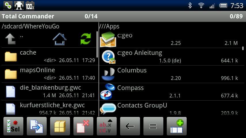 {tc} Zugriff auf installierte Apps