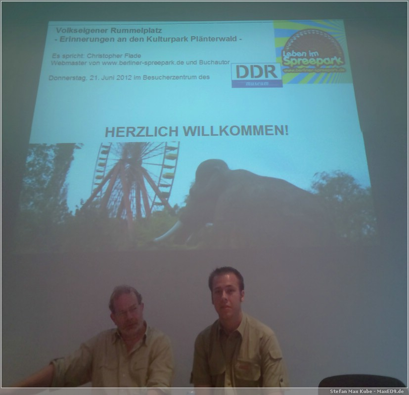 Stefan Wolle (DDR Museum, li), Christopher Flade (Webmaster, Autor, re)