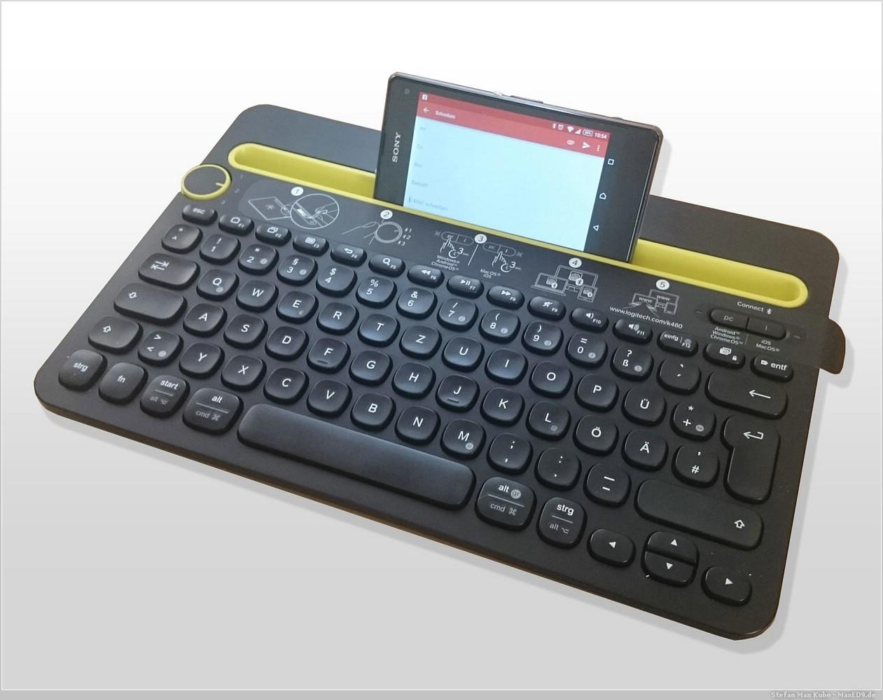 Sony Xperia Z1 compact und Logitech K480