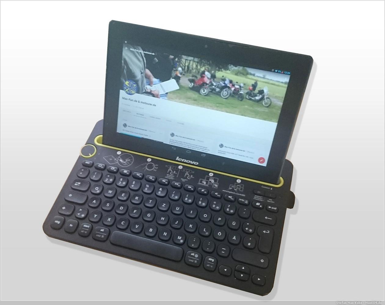 Lenovo IdeaPad S6000 und Logitech K480