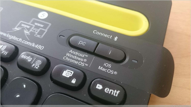 Logitech K480 PC/Android und Mac-Layout