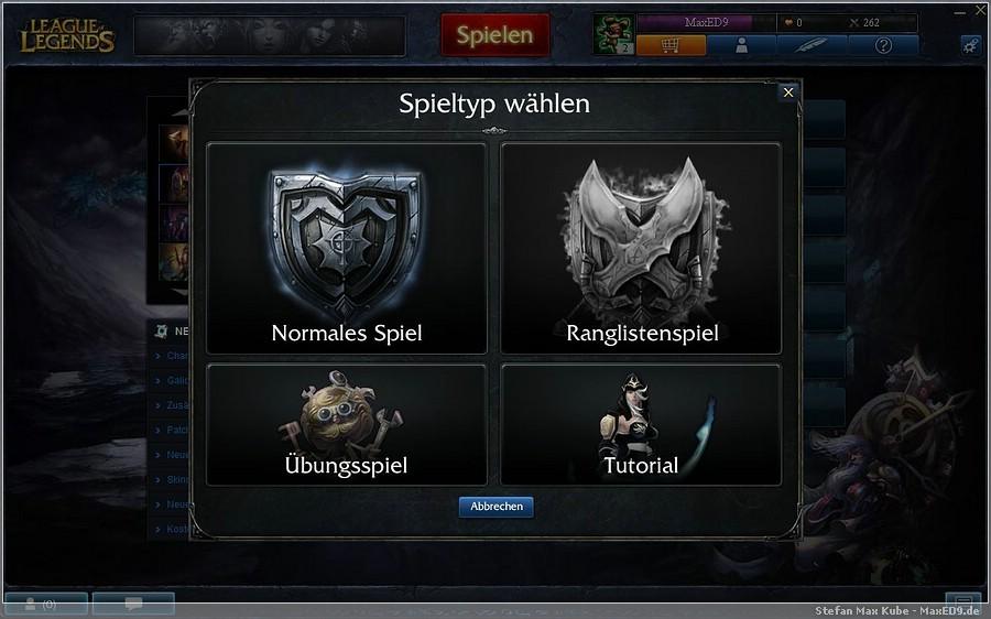 {lol} Spiel-Modi-Wahl