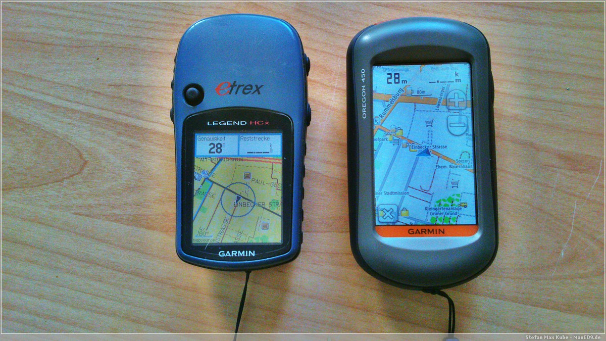 Garmin eTrex Legend HCx und Oregon 450