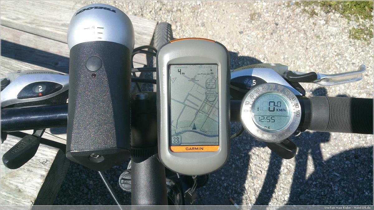 Garmin Oregon 450 am Fahrrad