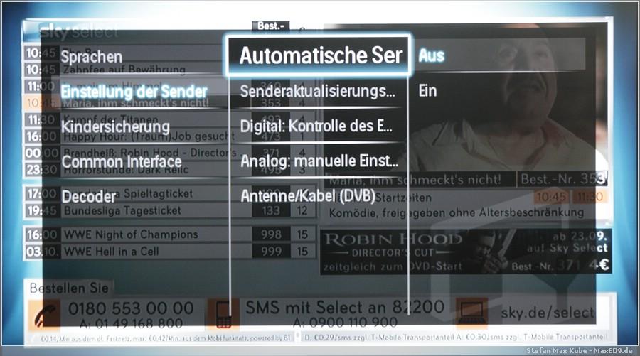 {smf} Automatische Senderaktualisierungsnachricht AUS