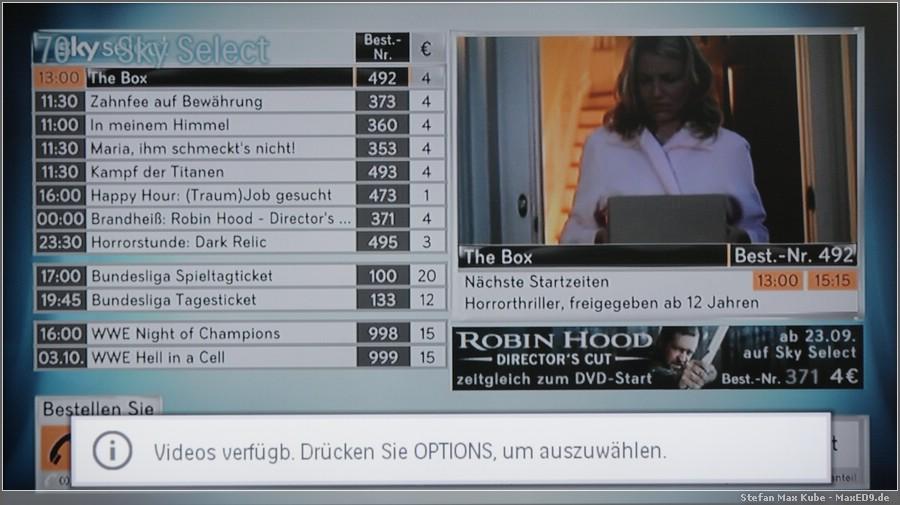 {smf} mein TV unterstützt Optionskanäle direkt
