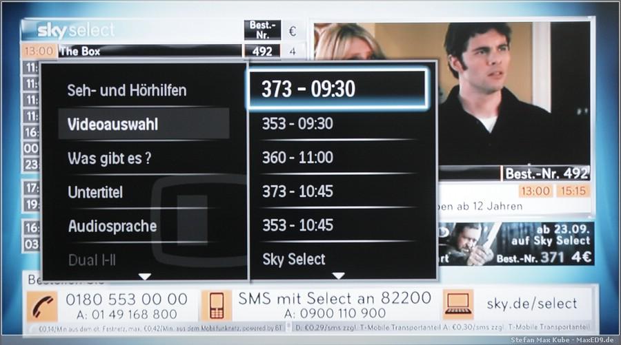{smf} Optionskanal-Auswahl meines TV