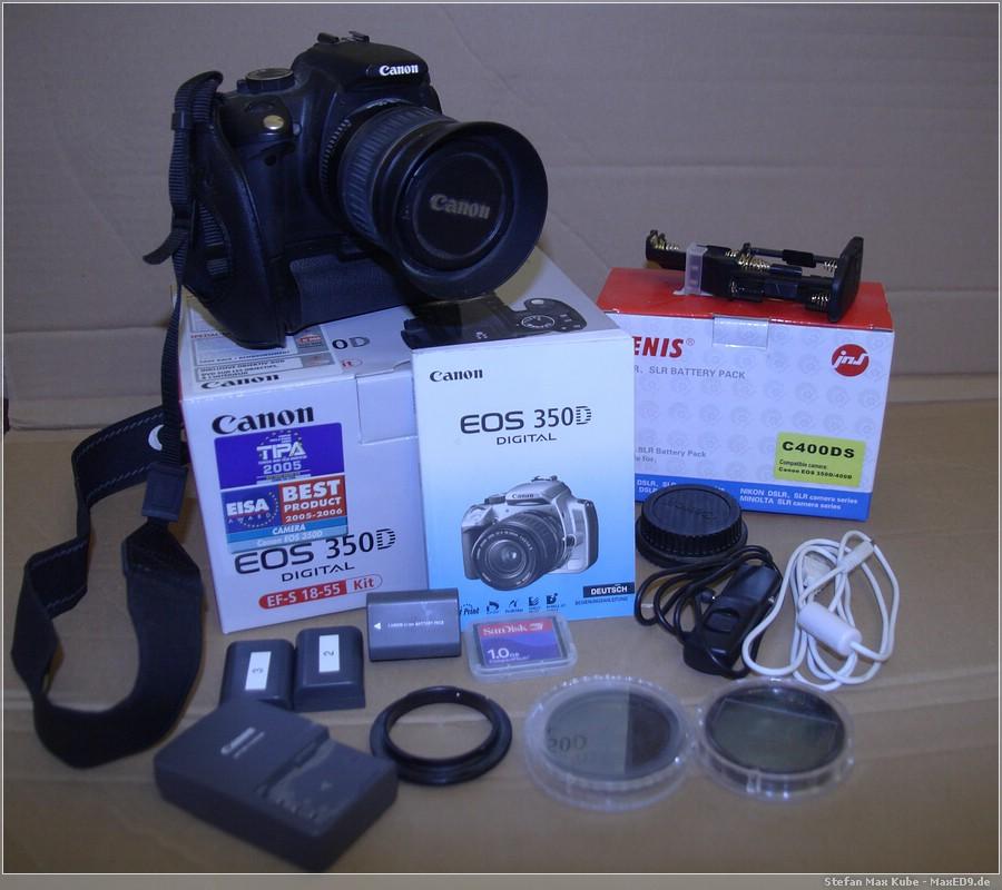 Canon EOS 350D Kit und Zubehör