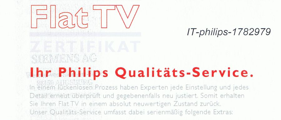 Philips Qualitäts-Service