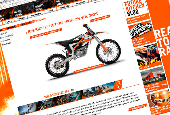 Freeride E KTM-Website