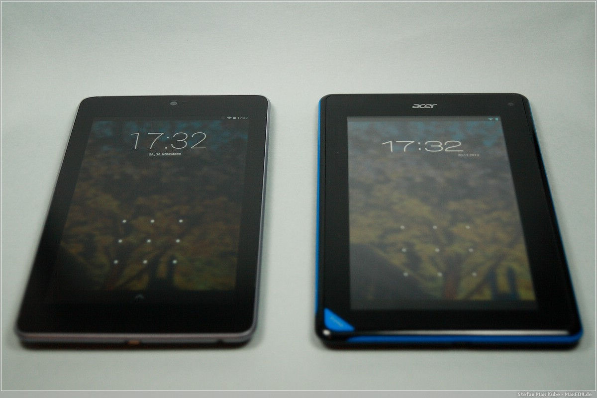 Nexus 7 vs Acer Iconia B1