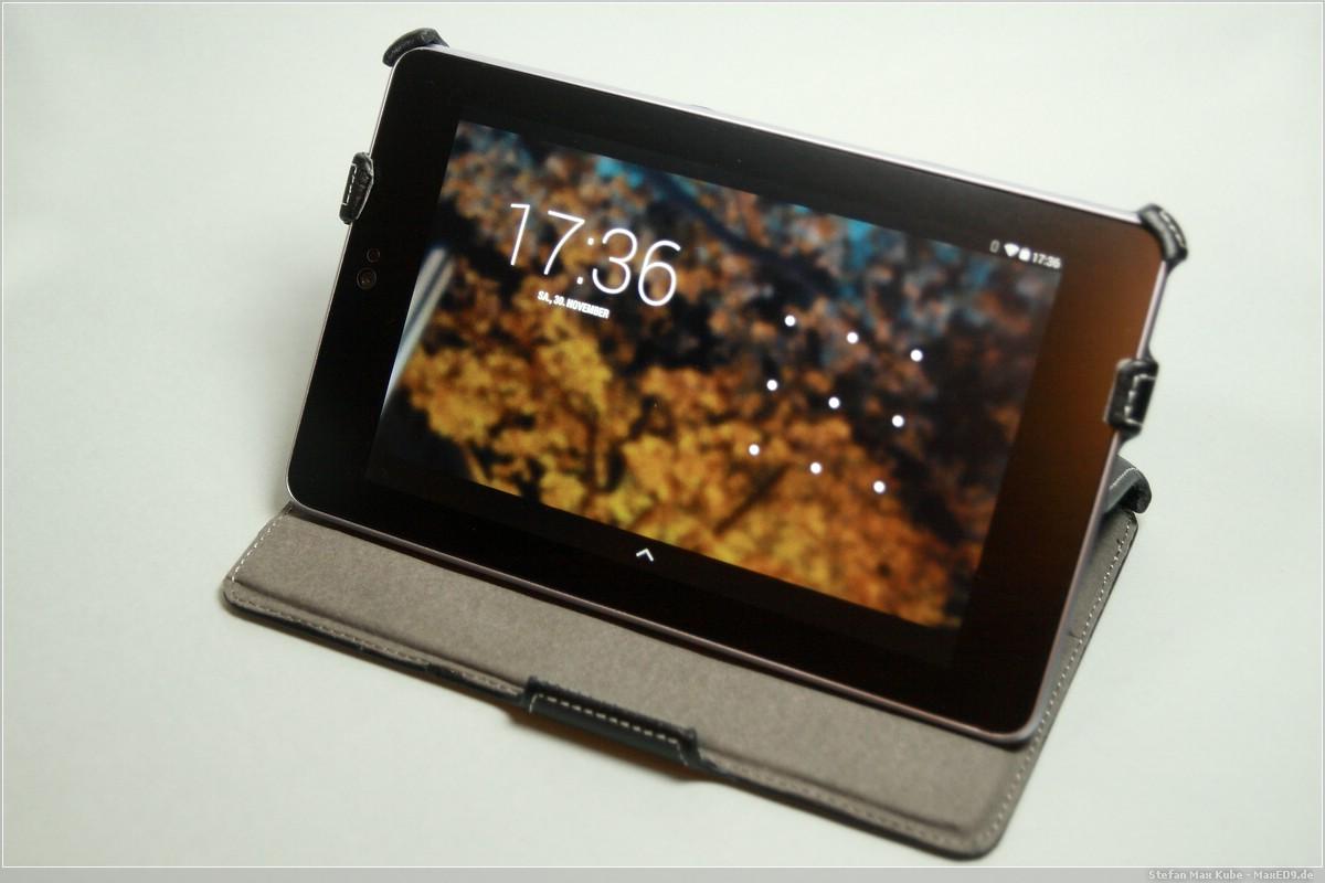 Nexus 7 aufgestellt