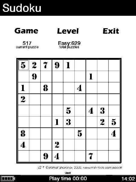{ebook} Reader-Sudoku
