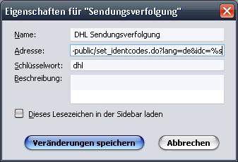 {fxsc} DHL Sendungsverfolgung