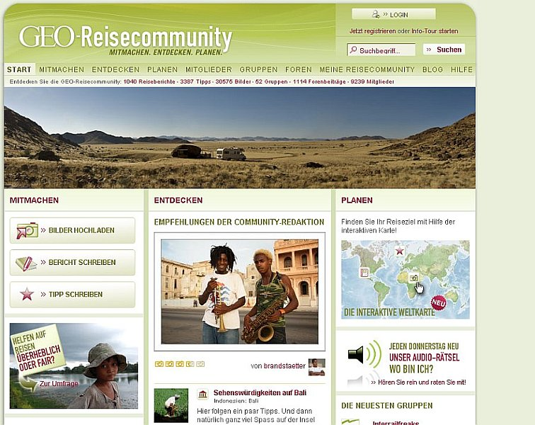 {tbgrc} GEO-Reisecommunity