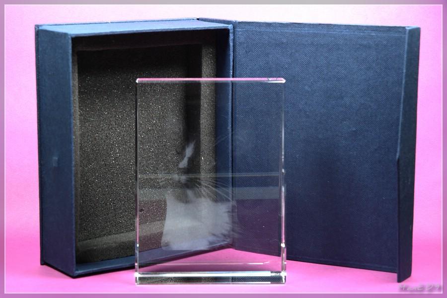 {pgf} Geschenkkarton und Glasfoto
