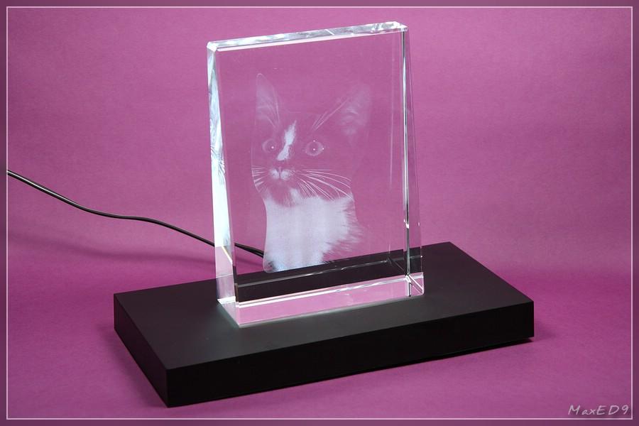 {pgf} Glasfoto auf Leuchtsockel