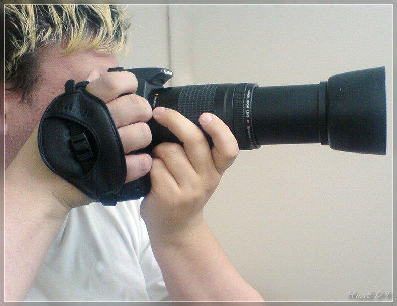Canon EOS 350D mit Canon E-1, Canon EF 75-300 4-5.6 II und ET-62