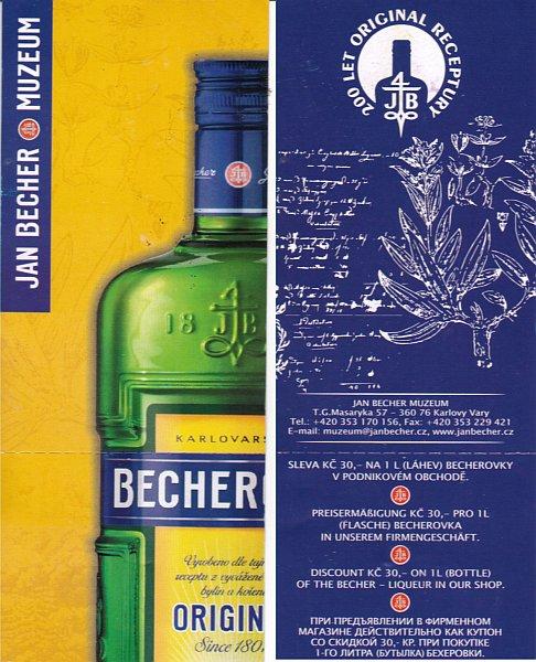 {kv} Eintrittskarte Jan Becher Museum