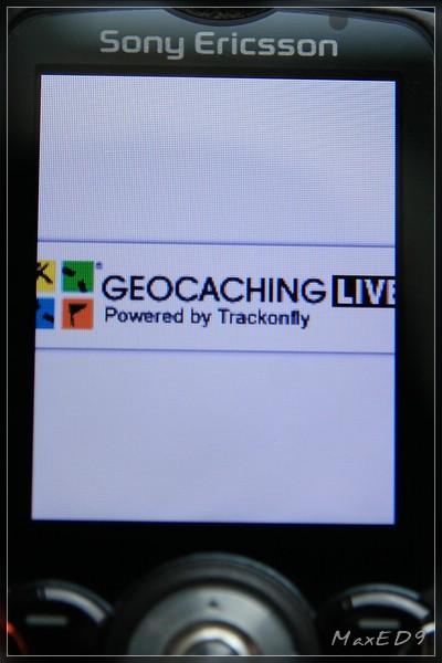 {nv} Geocaching Live Startbildschirm