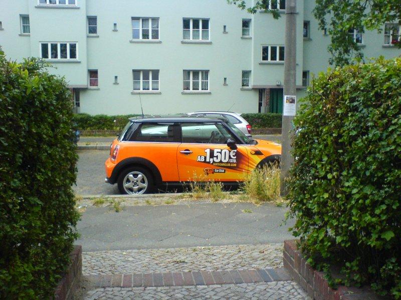 SIXTI Car Club Mini vor meiner Haustür