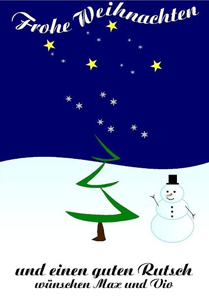 Weihnachten skizziert