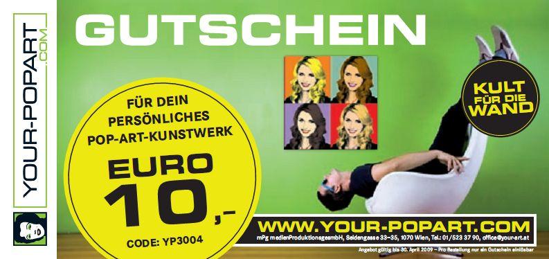 {yp} 10 Euro Gutschein - Your-Popart